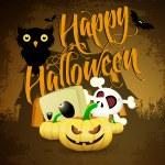 Halloween cartoons background | editable vector illustration — Stock Vector #13637863