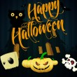 Halloween cartoons background | editable vector illustration - Stock Vector