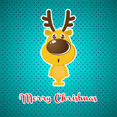 Christmas background with Reindeer — Stock Vector