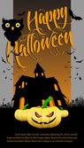 Halloween cartoons background   editable vector illustration — Stock Vector