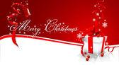 Merry Christmas vector image — Stock Vector
