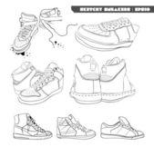 Retro sneakers — Stock Vector