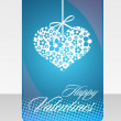 Greeting card for Valentine's Day — Stock Vector