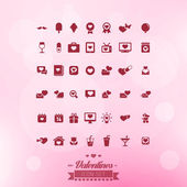 Valentines Icon Set Named and Layered Separately Vector Illustration — Stock Vector