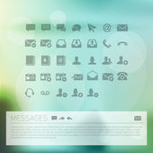 Communication Icon Set Named and Layered Separately Vector Icon Set — Stok Vektör