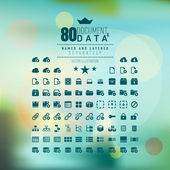 Document and Data Icon Set Named and Layered Separately Vector Icon Set — Stock Vector