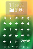 Weather Icon Set - Named and Layered Separately — 图库矢量图片