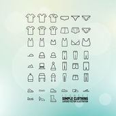 Simple Clothing Icons Set — Stock Vector