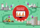 Resources control — Stock Vector