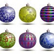 Royalty-Free Stock Vector: Christmas colored balls