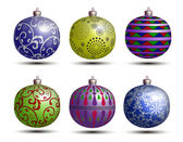 Christmas colored balls — Stock Vector