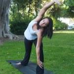 Beautiful young woman doing yoga — Stock Photo #12641217