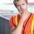 Stock Photo: Portrait of a young construction worker