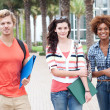 Royalty-Free Stock Photo: Happy group of college students