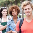 Happy group of college students — Stock Photo