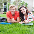 Royalty-Free Stock Photo: Pair of happy college students
