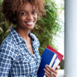 Pretty african american college student — Stock Photo #13487095