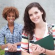 Happy pair of college students — Stock Photo #13487151