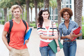 Happy group of college students — Stockfoto
