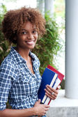 Pretty african american college student — Foto Stock