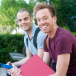 Pair of happy young male students — Stock Photo