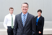 Happy business team at office — Stock Photo