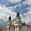 Saint Nicolas Church in Prague — Stock Photo