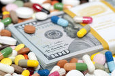 Money and drugs — Foto Stock