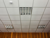Office ceiling with lamps — Stock Photo
