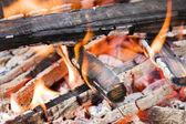 Camping hoguera con fragmento calx — Foto de Stock
