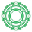 Stock Photo: Green round ornamental graphical lace