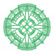 Stock Photo: Green ornamental graphical round lace