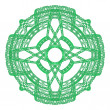 Stock Photo: Green graphical ornamental round lace