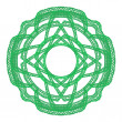Stock Photo: Green graphical ornamental lace