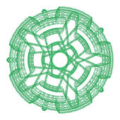 Green abstract round graphical ornamental lace — Stock Photo