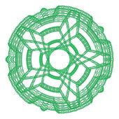 Verde ornamentale grafica astratta rotondo pizzo — Foto Stock