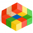 Impossible toy, unreal cubes construction, illusion — Stock Photo #13534635