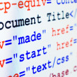 HTML source code of web page with title — Stock Photo #14444719