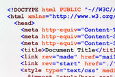 HTML web page code front view — Stock Photo