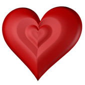 Rood hart op witte achtergrond — Stockfoto
