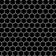 Stock Photo: Steel grid with hexagonal holes industrial seamless background