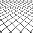 Braided wire steel net in perspective view — Stock Photo