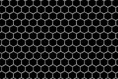 Steel grid with hexagonal holes industrial seamless background — Stock Photo