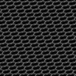 Stock Photo: Steel grid with hexagonal holes diagonal seamless background