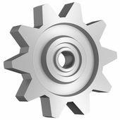 Cogwheel on white side view — Stock Photo