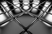 Steel cubes flooring diagonal perspective view — Stock Photo