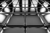 Stål kuber golv perspektivvy — Stockfoto