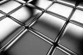 Steel cubes flooring diagonal view — Stock Photo