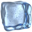 Ice cube with small bubbles — Stock Photo