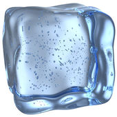 Ice cube with small bubbles — Stockfoto